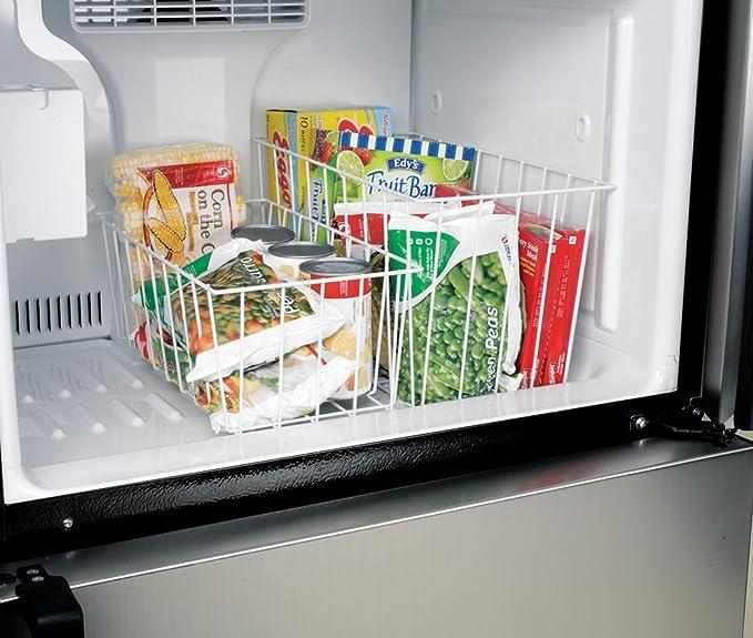 Blanco alambre congelador cestas de almacenamiento - Set de 2 ...