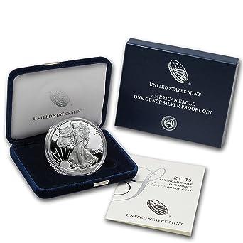 2015-W 1 oz Proof Silver American Eagle w//Box /& CoA