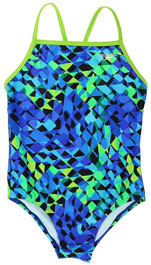 08d7a710ba26c Amazon.com : Speedo Big Girls' Youth Solid Splice Cross-Back One ...