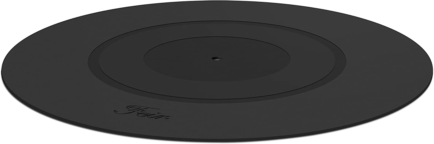 Turntable Platter Mat Black Rubber Silicone Design