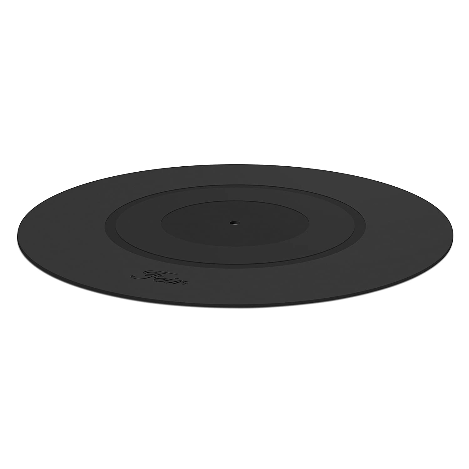 Turntable Platter Mat Black Rubber Silicone Design for Universal to All LP Vinyl Record Players