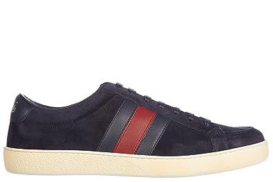 6636c60ffcf Gucci Men s Shoes Suede Trainers Sneakers Softy tek blu UK Size 9 337222  CKKA0 4064