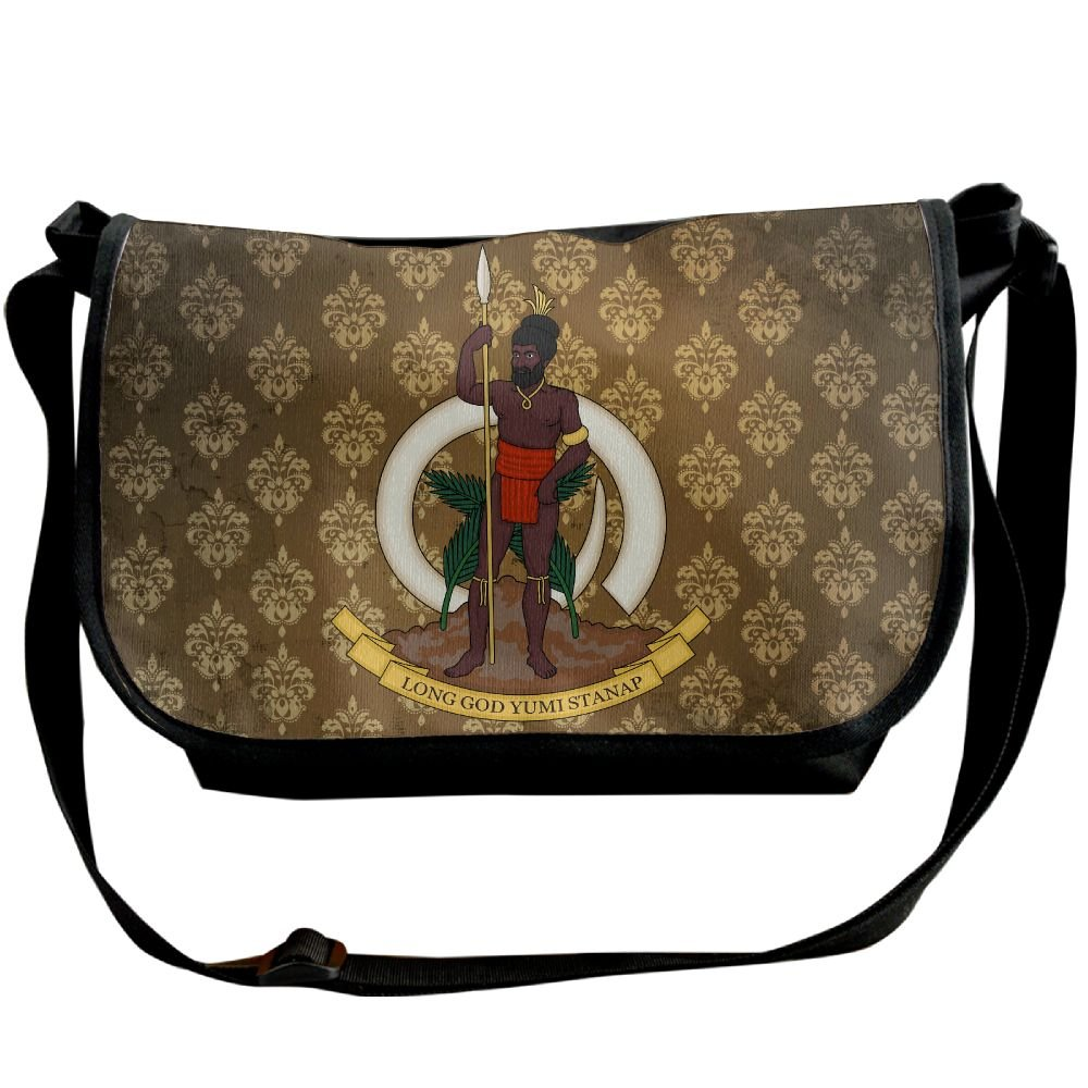 Lov6eoorheeb Unisex Coat Of Arms Of Vanuatu Wide Diagonal Shoulder Bag Adjustable Shoulder Tote Bag Single Shoulder Backpack For Work,School,Daily