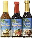 Coconut Secret Coconut Aminos Variety Pack - Coconut Aminos Original, Garlic Sauce & Teriyaki Sauce - 2 Each, 8-10 fl oz - Organic, Vegan, Non-GMO, Gluten-Free, Kosher - 256 Total Servings