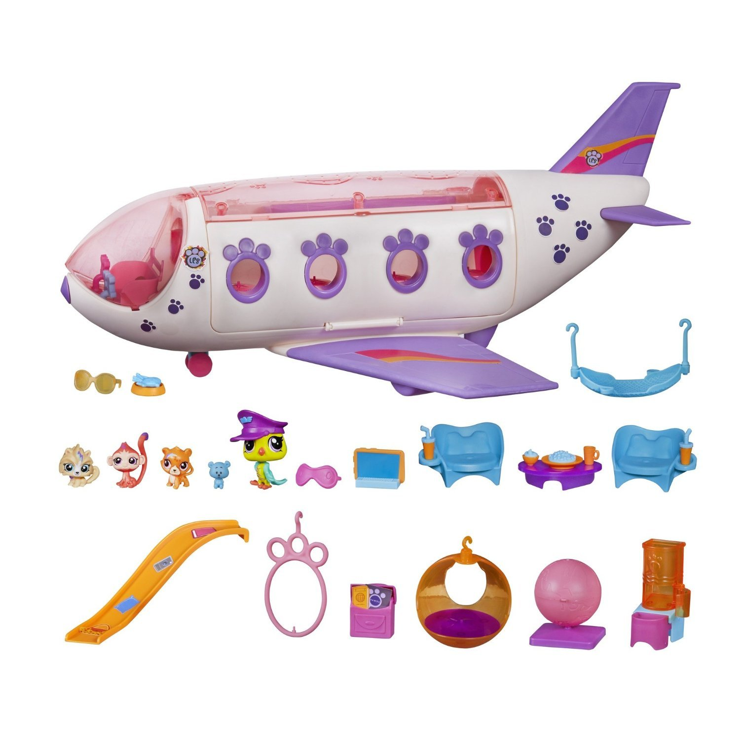 Littlest Pet Shop Jet Playset, Includes 4 Exclusive Pets, Ages 4 and up (Amazon Exclusive)