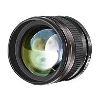 Neewer Multi-Coated 85mm f/1.8 Portrait Aspherical Telephoto Lens for Canon EOS 80D 70D 60D 60Da 50D 7D 6D 5D 5DS 1Ds Rebel T6s T6i T6 T5i T5 T4i T3i T3 T2i and SL1 DSLR Cameras, Manual Focus HD Glass