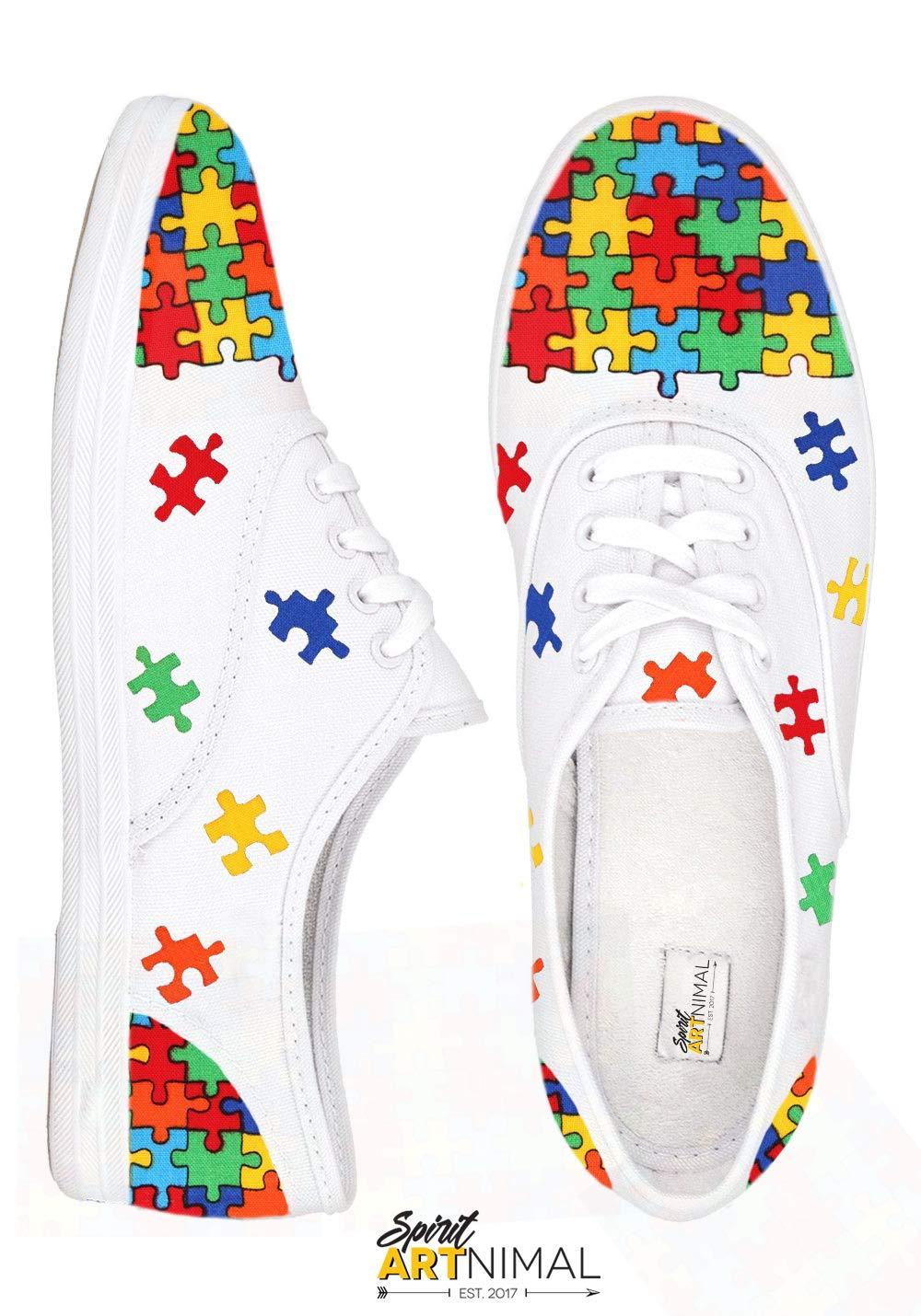Amazon.com  Autism Speaks Hand-Painted Canvas Shoes 2cf2ec38f