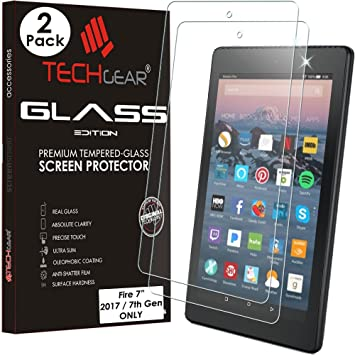 Premium Tempered Glass Screen Protector For Amazon Kindle fire 7 2015 2017 2018