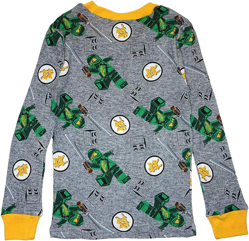 LEGO Ninjago Boys Pajama Set 4 Piece PJ Set Long Sleeve Long Pant,Glow in the Dark