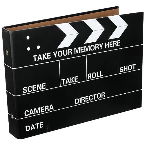 CAIUL Instax Mini Book Album, 50 Pages DIY Photo Album, Anniversary Scrapbook, Wedding Photo Album (Movie Clapboard)