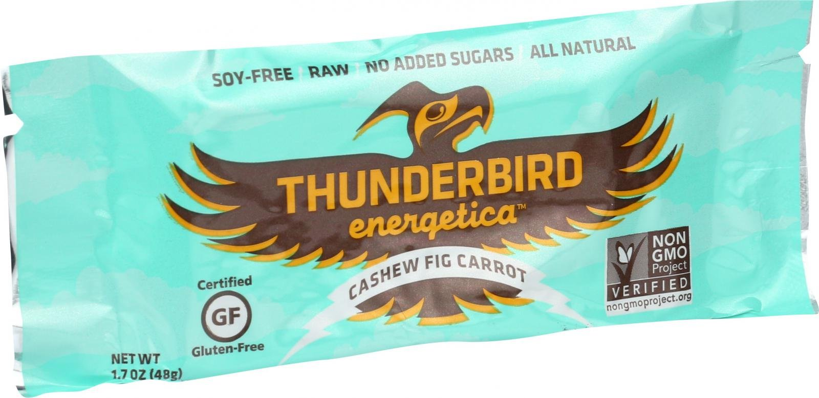 Thunderbird Energetica Cashew Fig Carrot Bar, 1.7 Ounce - 15 per case.