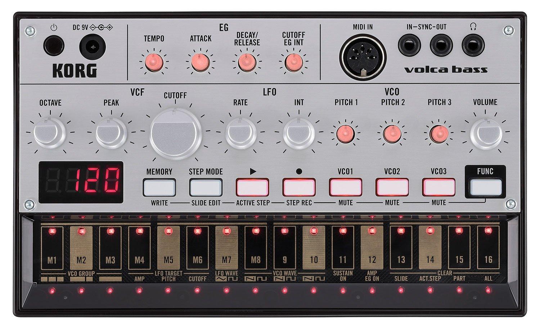 Korg Volca Bass sequencer synth analogico compatto per basso VOLCABASS