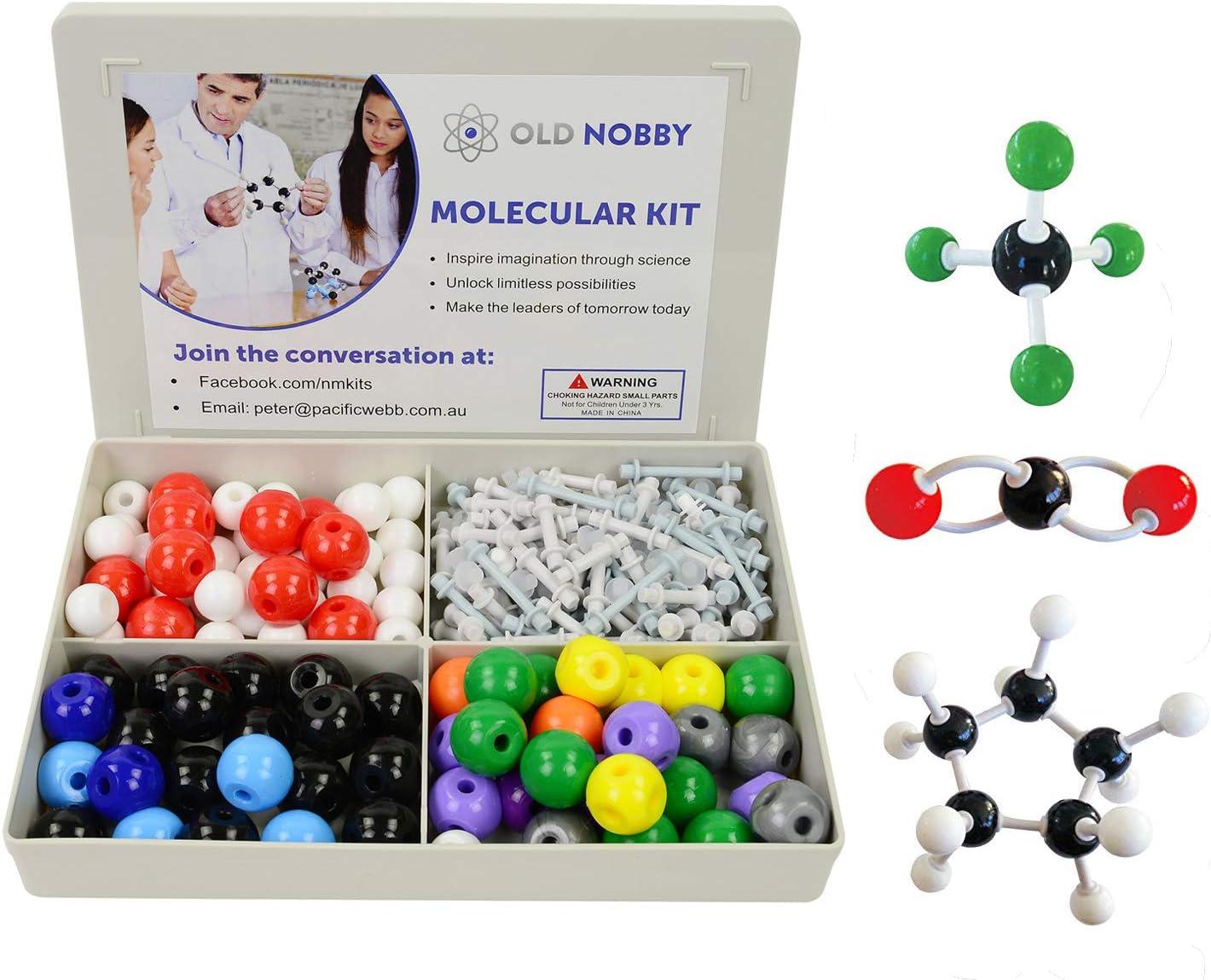 Molecular Model Kit (239piezas) Juego de química avanzada con guía de instrucciones–Química Estructura Kit para química profesores, alumnos y jóvenes científicos con átomos, bonos y orbitals