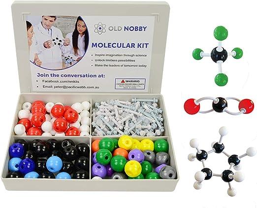 Molecular Model Kit (239 piezas) Juego de química avanzada con guía de instrucciones – Química Estructura Kit para química profesores, alumnos y jóvenes científicos con átomos, bonos y orbitals: Amazon.es: Oficina y