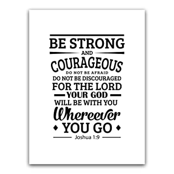 Amazoncom Be Strong And Courageous Joshua 19 Bible Verse Wall
