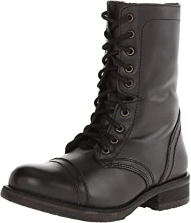 Amazon.com | Steve Madden Women's Troopa Lace-Up Boot | Mid-Calf