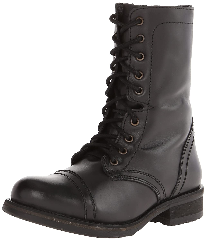 Steve Madden Women's Troopa 2.0 Combat Boot B00RET7PZS 9.5 B(M) US Black Leather