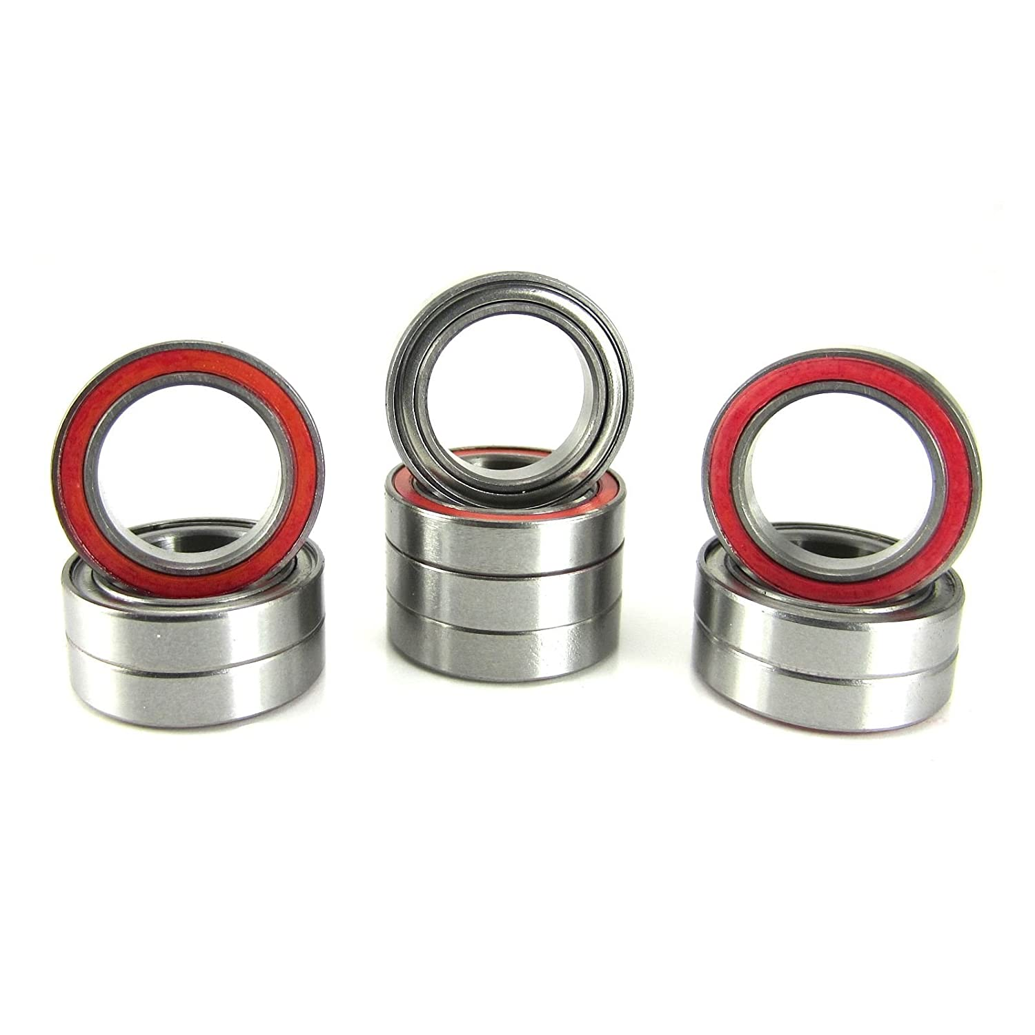 12x18x4mm Precision Ball Bearings ABEC 3 Hybrid Seals (10) 6701-RZ-RED TRB RC