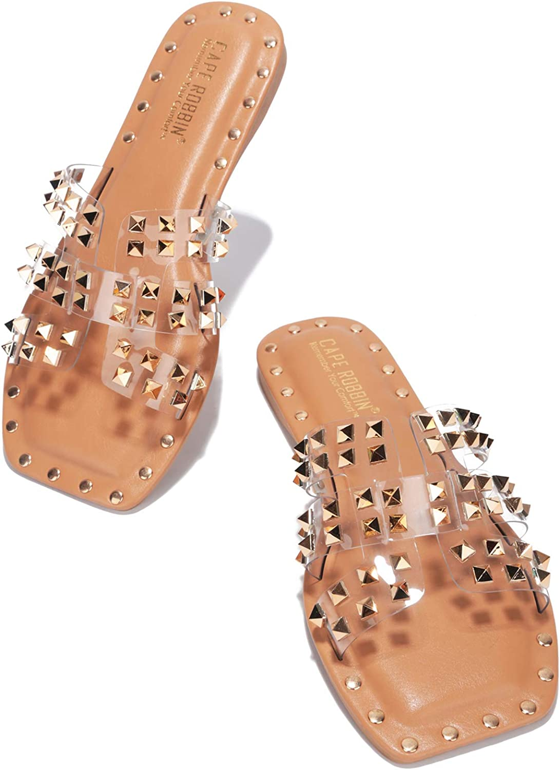 Cape Robbin Large discharge sale Amisha Sandals Slides for Now on sale Womens Women Studded Mule
