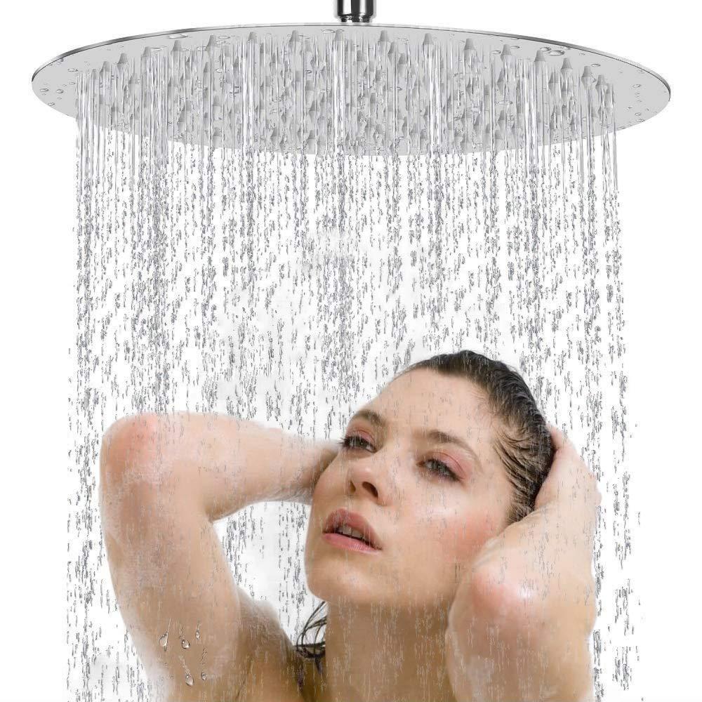8 In Shower-Head ASKALI High Water Pressure Ceiling Showerheads - High Flow Rainfall Showerhead Anti Leak&Clog Stainless Steel Body - Rain Showerhead with Adjustable Swivel Ball Joint/Restrictor/Tape