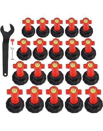 clip per parete e pavimento Base 100pcs plastica pavimento piastrelle da parete con sistema di livellamento piatto cinghia distanziatori per piastrelle mattonelle Tools livellatore distanziali
