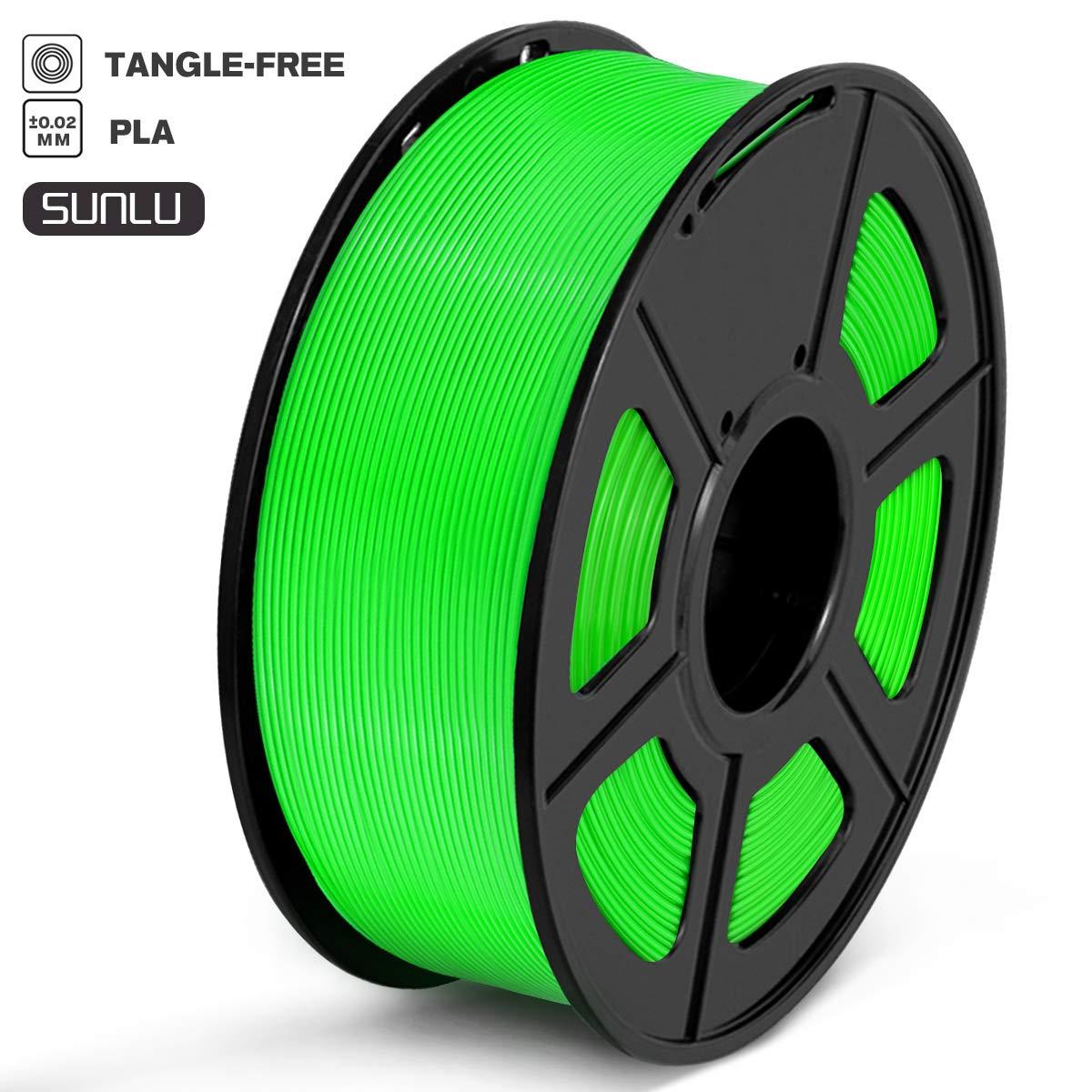 SUNLU PLA Filament 1.75mm 3D Printer Filament PLA Tangle-Free 1kg Spool Dimensional Accuracy of +//- 0.02mm PLA Black 2.2lbs