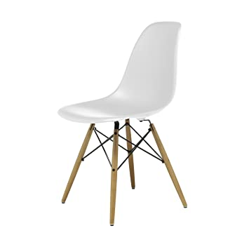 Vitra Eames Plastic Side Chair Stuhl Dsw Mit Kunststoffgleitern