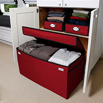 G.U.S. Canvas All Purpose Storage Chest For Linens, Seasonal Clothes,  Sports Equipment, And