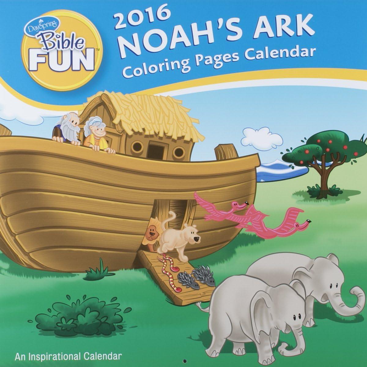On Noah's Ark Coloring Mural | 1200x1200