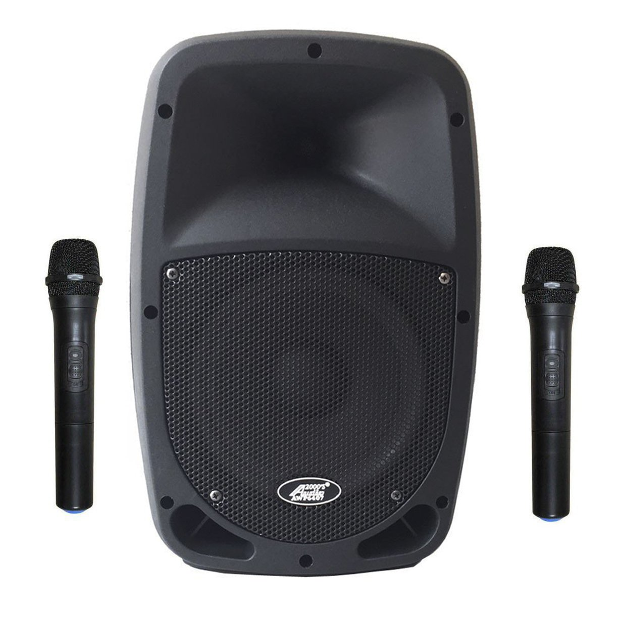 Audio 2000S 6407HH 8 Dual Channel Wireless Microphone Bluetooth Portable PA System with 2 Handhelds Audio2000' s
