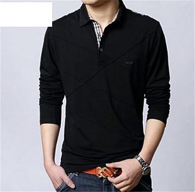 77c186900 Amazon.com  Vazpue Shirts 2016 Man Clothes Fashion Spring Summer Cotton  Long Sleeve Polo Shirt For Male Top Tees Camisa Polo Masculina Men Shirt  Plus Size ...