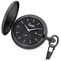 Speidel Classic Brushed Engravable Pocket Watch with 14
