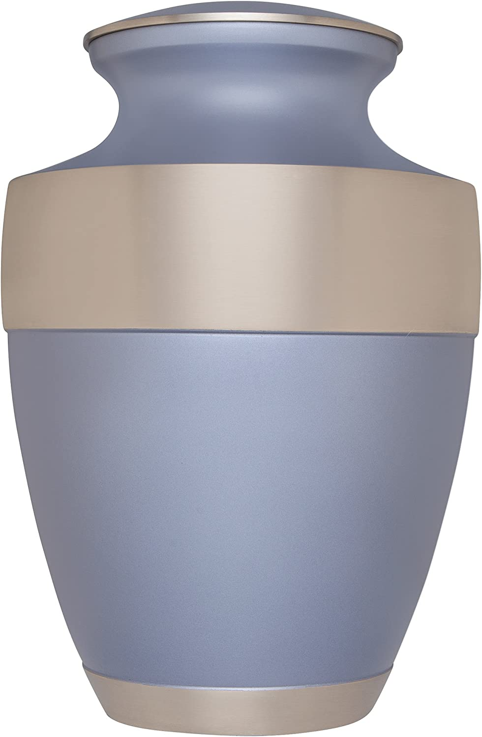 Liliane Memorials Shiny Navy Funeral Cremation Urn with Wide Gold Band Banda Blue Model in Brass for Human Ashes Suitable for Cemetery Burial Fits Remains of Adults up to 200 lbs Large//200 lb