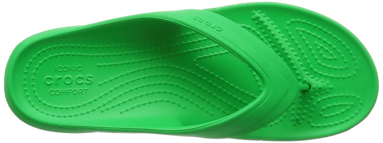 Crocs Unisex-Erwachsene Classicflip Grün Pantoffeln Grün Classicflip (Grass Grün) 0ec334