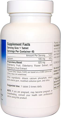 Full Spectrum Elderberry Extract 525mg Planetary Herbals 90 Tabs