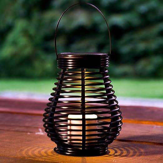 GloBrite - Farolillos de jardín con luz solar (ratán): Amazon.es: Iluminación