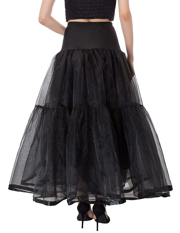 GRACE KARIN Jupon ann/ées 50 Vintage en Tulle Rockabilly Petticoat sous Robe Longeur 100cm
