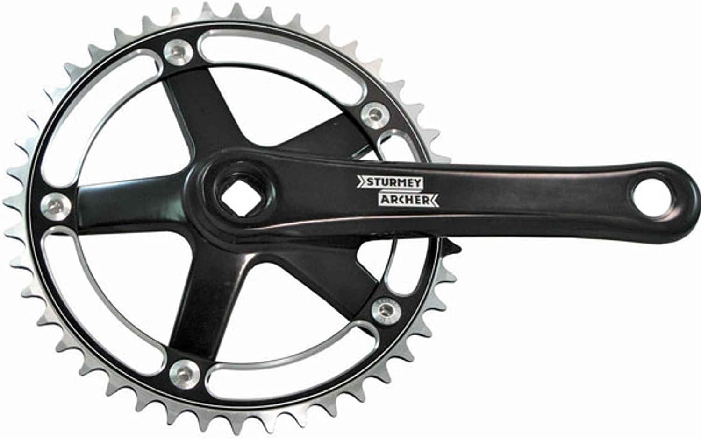 Track Fixed Gear Road Bike Crankset 46T 170mm Black