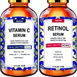 Wumal Facial Serum Combo Pack - Retinol Serum, Vitamin C Serum - Natural & Organic Anti Aging Formula for All Skin - Fragranc