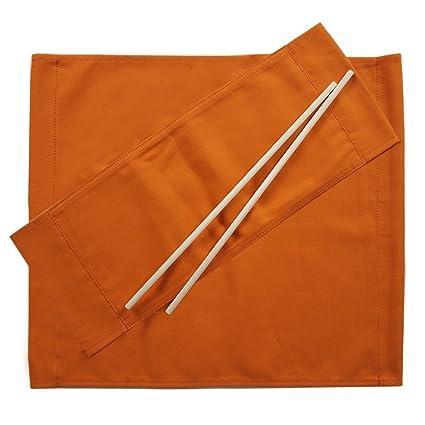 Set Teli Ricambio Sedia Regista.Ricambi Per Sedia Regista Set Di 2 Cotone Arancione