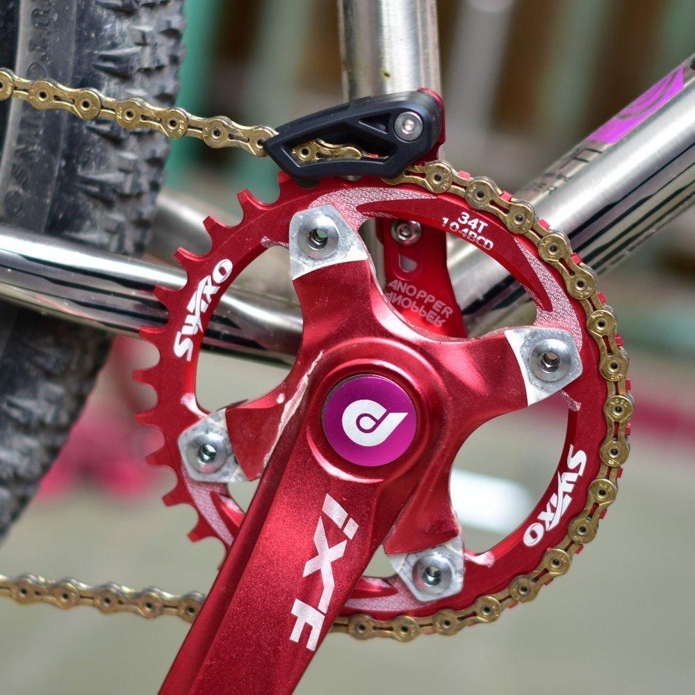 7075 Aluminum Bike Chain Guide MTB Bicycle Chain Guard Protector Black BB mount