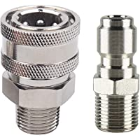 WILTEEXS Pressure Washer Adapter Set, Quick Connect Kit, 3/8 Inch Male Thread Fitting, 5000 PSI