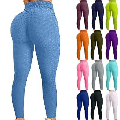 Tanst Sky Womens High Waisted Yoga Pants Tummy Control Workout Running Leggings
