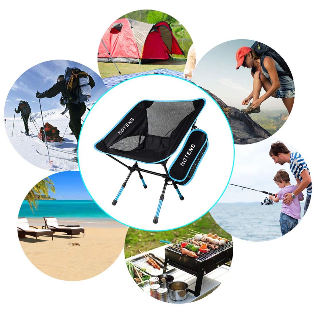 NOTENS Silla de Camping Plegable Ultraligero Mochilas al Aire Libre para recreo