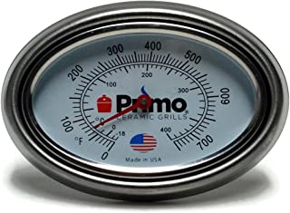 product image for Primo Grill Thermometer and Bezel Combo for Primo Ceramic Grills - Now 200% Larger and Ability to Calibrate