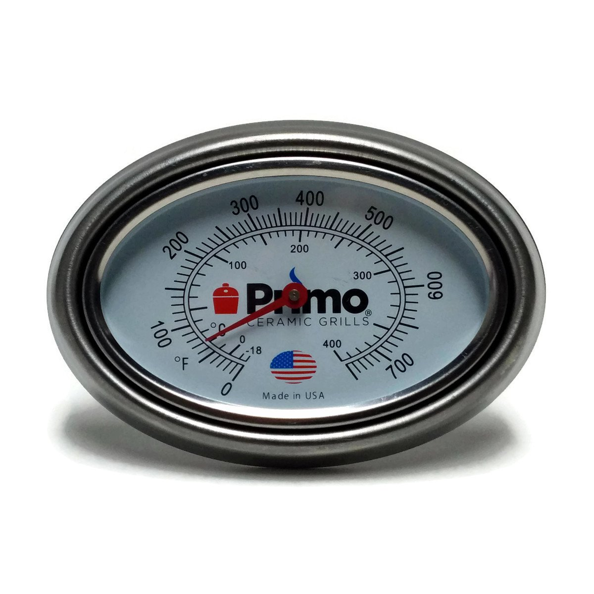 Primo Grill Thermometer and Bezel Combo for Primo Ceramic Grills - Now 200% Larger and Ability to Calibrate Primo Grills 200033