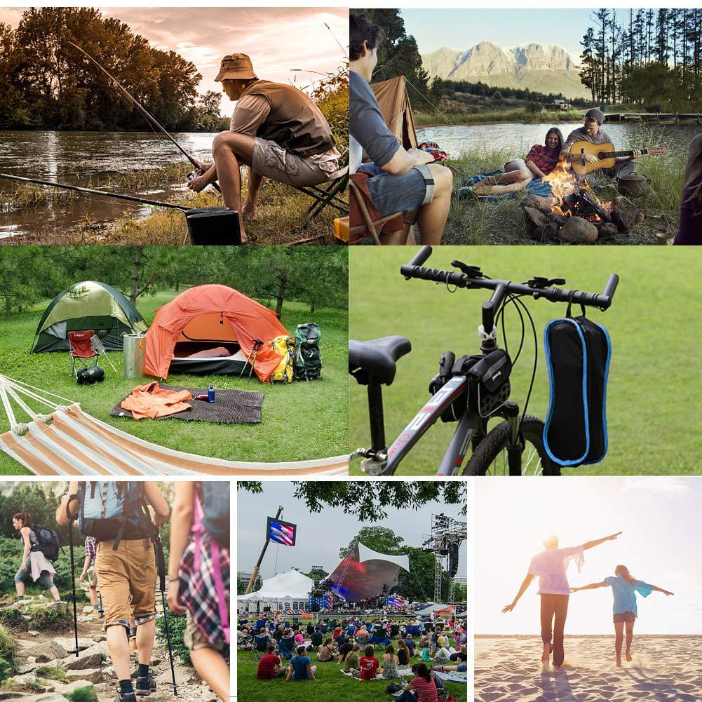 EXTSUD Ultraleichter Campingstuhl Anglerstuhl Klappstuhl kompakter tragbar Stuhl mit Tragetasche f/ür Outdoor Aktivit/äten,Camping,Grill,Picknick,Strand,Wandern max Belastung betr/ägt 150kg|MEHRWEG