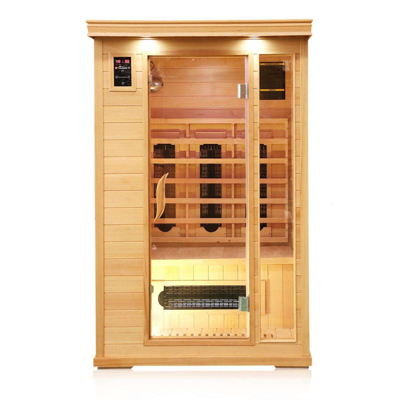 Gut TroniTechnik Infrarotsauna 2 Personen Infrarotkabine Sauna  LE09