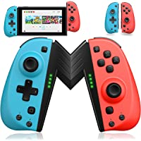 ECHTPower Wireless Controller for Nintendo Joycon Switch, Macro Button/Turbo/Vibration/Motion Functions, L/R Switch…