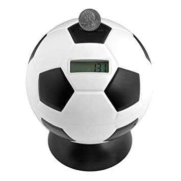 Hey! Play!. Balón de fútbol Digital - Contador de Monedas Banco ...